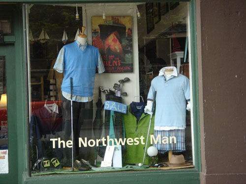 It's nice to shop at the Northwest Man
